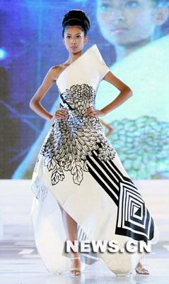 2007年新丝路中国模特大赛在三亚落幕,来自河南赛区的8号选手马青在