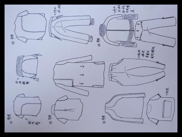 运动服款式图手绘